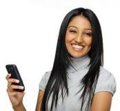 Счастливая индийская женщина Стоковая Фотография RF