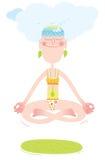 счастливая йога Стоковое Фото