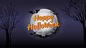 Счастливая каллиграфия оформления хеллоуина Сезонная литерность знамя дизайна плана предпосылки иллюстрация Стоковая Фотография