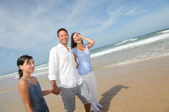 счастливая каникула моря стоковая фотография rf