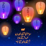 Счастливая карточка 2019 Нового Года Стоковые Изображения RF