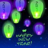 Счастливая карточка 2019 Нового Года Стоковое Изображение