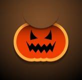 Счастливая карточка Halloween с тыквой. Стоковая Фотография RF