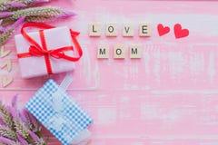 Счастливая концепция дня ` s матери Стоковые Фотографии RF
