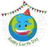 Счастливая концепция флага дня земли бесплатная иллюстрация