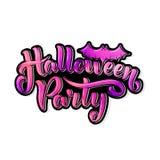 Счастливая литерность для вашего дизайна, иллюстрация партии хеллоуина на теме хеллоуина Стоковая Фотография