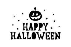 Счастливая литерность руки хеллоуина бесплатная иллюстрация