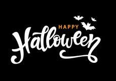 Счастливая литерность хеллоуина рукописная Стоковое фото RF