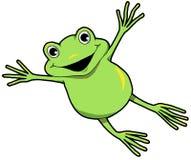 Счастливая лягушка перескакивать иллюстрация штока