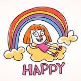 Счастливая маленькая девочка Стоковое Изображение