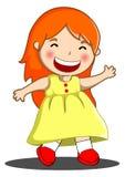 Счастливая маленькая девочка иллюстрация вектора