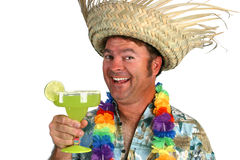 счастливая маргарита человека Стоковое Фото