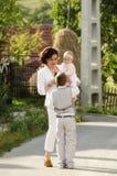 Счастливая мать Стоковые Изображения