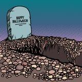 Счастливая могила хеллоуина иллюстрация штока