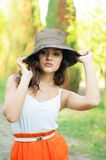 Счастливая молодая женщина Стоковое Изображение