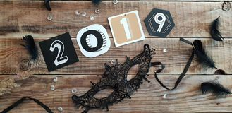 Счастливая новая предпосылка 2019 год стоковые изображения rf