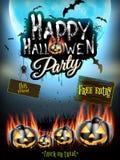 Счастливая партия хеллоуина 10 eps Стоковая Фотография RF