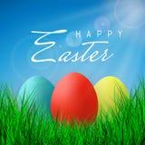 Счастливая пасха, цвет Eggs собрание с сеткой градиента, шаблоном дизайна, иллюстрацией вектора иллюстрация вектора
