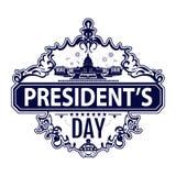 Счастливая печать дня президентов с Белым Домом в векторе бесплатная иллюстрация