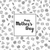 Счастливая поздравительная открытка дня матери s с красивыми цветками Стоковое Изображение RF