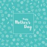 Счастливая поздравительная открытка дня матери s с красивыми цветками Стоковая Фотография RF