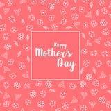 Счастливая поздравительная открытка дня матери s с красивыми цветками Стоковые Изображения RF