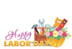 Счастливая поздравительная открытка Дня Трудаа бесплатная иллюстрация