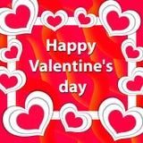 Счастливая поздравительная открытка дня ` s валентинки, шаблон для вашего дизайна также вектор иллюстрации притяжки corel Стоковые Изображения RF