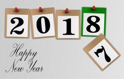 Счастливая поздравительная открытка Нового Года 2018 Стоковые Фотографии RF