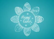 Счастливая поздравительная открытка пасхи Стоковые Фото