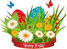 Счастливая поздравительная открытка пасхи Стоковая Фотография