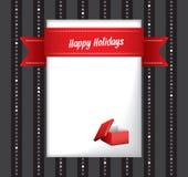 Счастливая поздравительная открытка праздников Бесплатная Иллюстрация