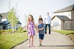 Счастливая потеха семьи Стоковое Изображение RF