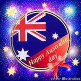 Счастливая предпосылка дня Австралии голубая иллюстрация Стоковая Фотография RF