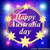 Счастливая предпосылка дня Австралии иллюстрация Стоковое Изображение RF
