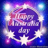 Счастливая предпосылка дня Австралии иллюстрация Стоковое фото RF
