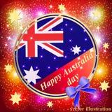 Счастливая предпосылка дня Австралии Красная иллюстрация Стоковое Изображение