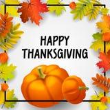 Счастливая предпосылка концепции благодарения, равновеликий стиль иллюстрация штока