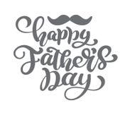 Счастливая предпосылка литерности вектора дня отцов Счастливое знамя света каллиграфии дня отцов Папа моя иллюстрация короля бесплатная иллюстрация