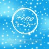 Счастливая предпосылка 2018 Нового Года с влиянием bokeh Предпосылка элегантного рождества голубая с снежинками и sparkles привет Стоковые Фото