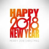 Счастливая предпосылка 2018 Нового Года С Рождеством Христовым тема 2018 иллюстрация штока