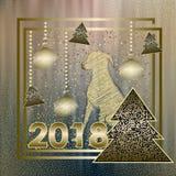 Счастливая предпосылка 2018 Нового Года с dogg китайца Стоковое Изображение RF