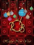 Счастливая предпосылка Нового Года 2018 Стоковое Изображение RF