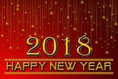 Счастливая предпосылка Нового Года 2018 Стоковое Фото