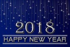 Счастливая предпосылка Нового Года 2018 Стоковое фото RF