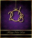 Счастливая предпосылка Нового Года 2018 Стоковые Фотографии RF