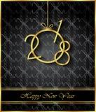 Счастливая предпосылка Нового Года 2018 Стоковое Изображение