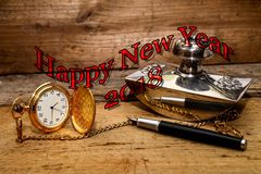 Счастливая предпосылка 2018 Нового Года Стоковое Изображение RF