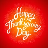 Счастливая предпосылка официальный праздник в США в память первых колонистов Массачусетса с листьями сияющей осени естественными  Стоковые Изображения