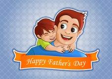 Счастливая предпосылка приветствиям дня ` s отца Стоковое Изображение RF